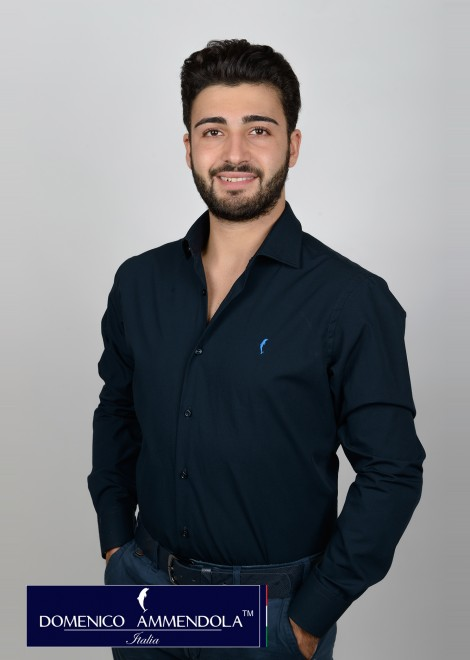 Camicia uomo blu slim