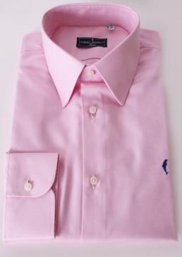 Camicia in cotone egiziano rosa chiaro interamente made in italy